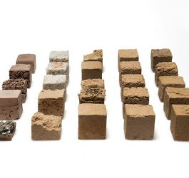 Material com areia do deserto